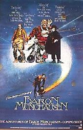 ADVENTURE OF BARON MUNCHAUSEN original issue rolled Advance 1-sheet movie poster