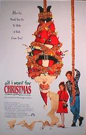 ALL I WANT FOR CHRISTMAS original issue rolled double sided 1-sheet movie poster