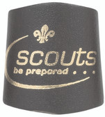 Scouts Gold Embossed Leather Woggle