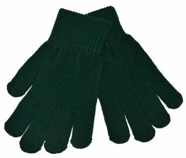 Bottle Green Knitted Gloves