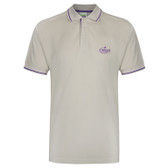 Adult Leaders Tipped Polo Shirt (Stone)