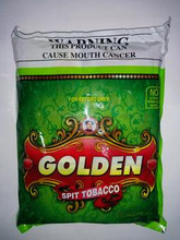 1 Bag of Golden Khaini Tobacco - 25 Pouches Per Bag - 16gm Each  FAST & FREE SHIPPING! Export Quality! EXP September 2018 Ingredients: Tobacco