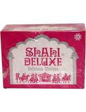 10 BOX of Shahi Deluxe Mouth Freshener - 24 Packets Per Box x 78 Grams Each FAST & FREE SHIPPING! Ingredients: Fennel, Dry Dates, Betelnut, Cardamom, Menthol, N.N Sweetener, Natural & Artificial Flavours                                                    EAT & ENJOY!