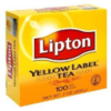 Lipton Yellow Label tea bags-100'sx4- Indian Grocery
