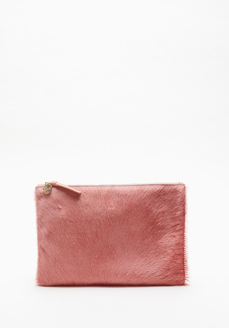 Clare V Pink Hair Clutch