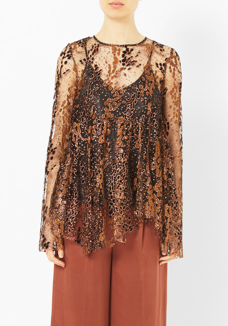Opening Ceremony Glitter Tulle Top