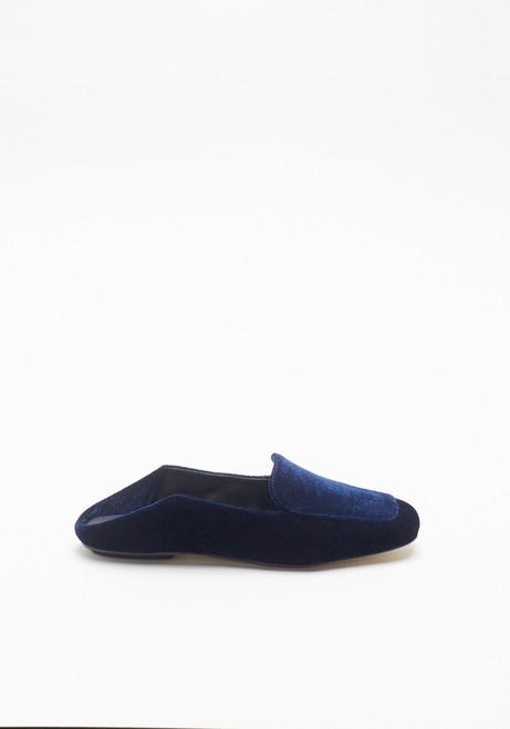 Tibi Navy Velvet Cecil Loafer