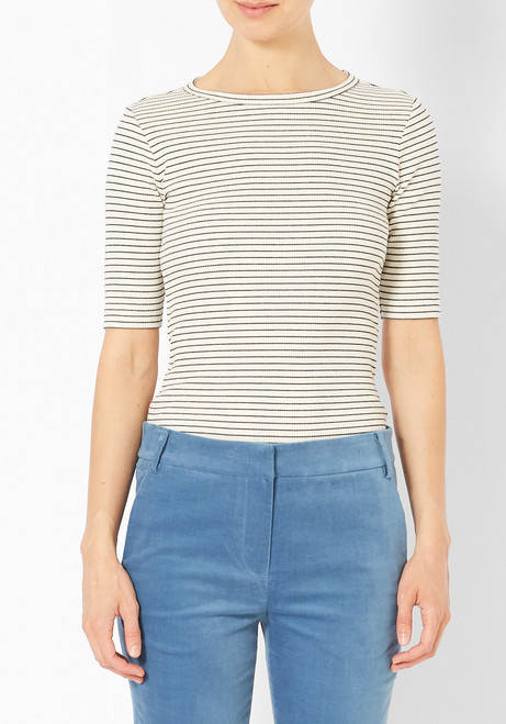 You Must Create Striped Charlotte Tee