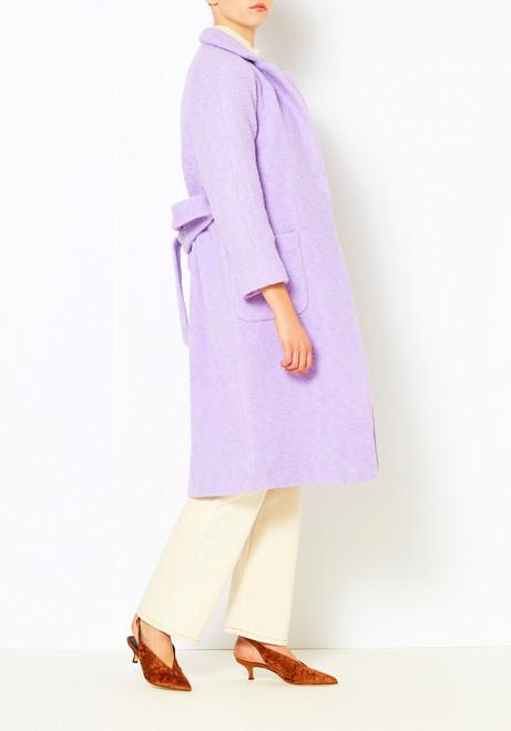 Ganni Pastel Lilac Fenn Coat