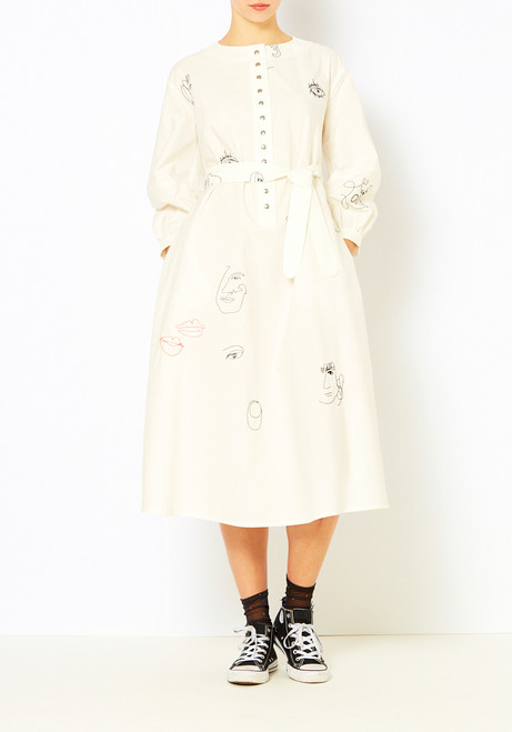 Mr. Larkin Embroidered Miller Dress
