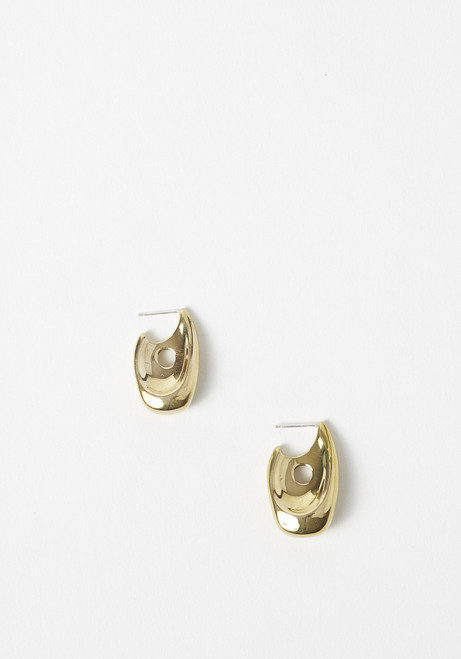 Leigh Miller Brass Illusion Hoops