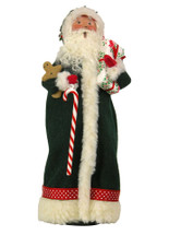 Green Santa with Candy Cane