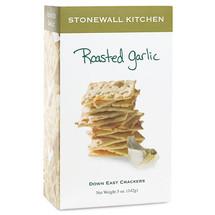 Roasted Garlic Crackers