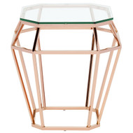 Polished stainless steel Side Table