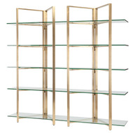 Polished stainless steel Shelving Unit