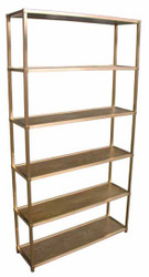 Walnut / brass Shelving Unit