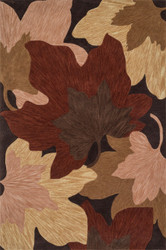 "7'-10"" x 11'-0"" 100% Polyester Brown"