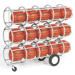 Lockable Basketball Storage Rack