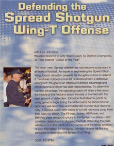 (Rental)-DEFENDING THE SPREAD SHOTGUN WING-T OFFENSE