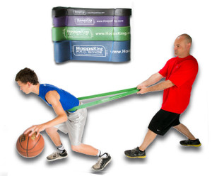 The P.R.O. Bands are great resistance basketball training bands that are good for getting quicker, faster, & stronger.