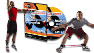 The MVP Vertical Jump Program Elite System contains lateral resistance bands, vertical jump resistance bands, and the MVP 2.0 DVD.