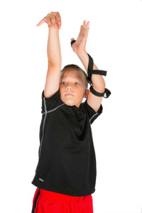 HoopsKing Shooting Strap help prevents the wrist turning and thumbing the basketball when shooting.