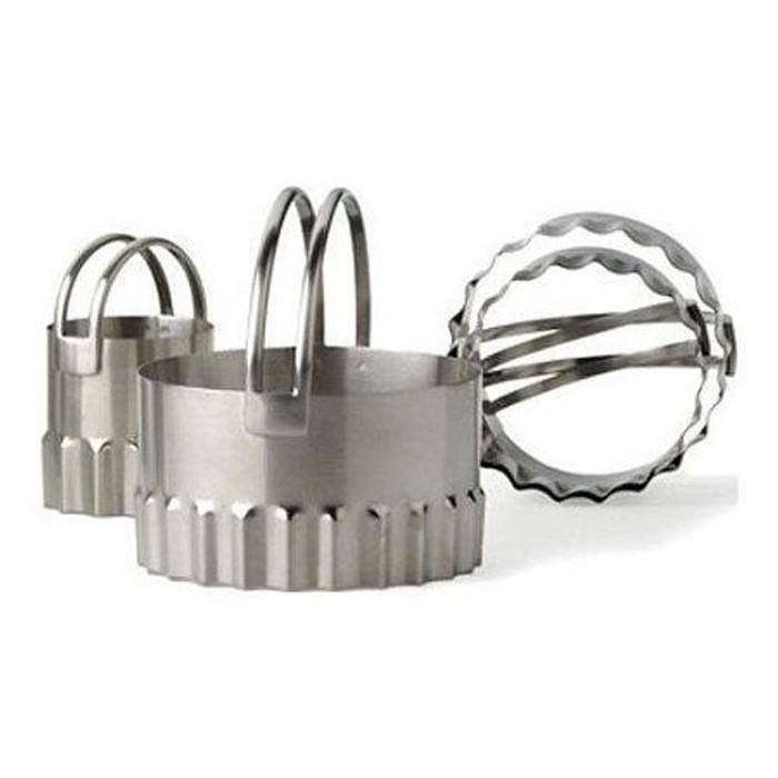RSVP Endurance Round Biscuit Cutters - Rippled (Set of 4)
