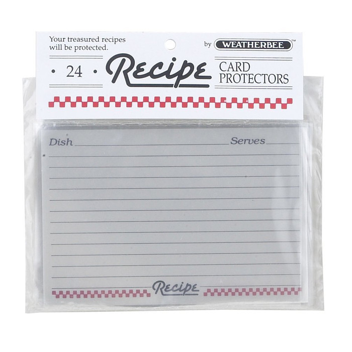 "Weatherbee Recipe Cards Protector, 4"" x 6"""
