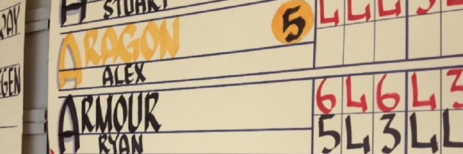 Scoreboard Calligraphy Example