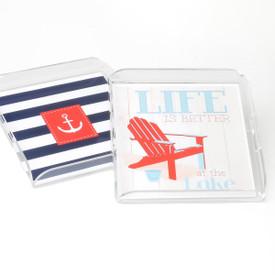 """Serving Tray 12""""x12"""" with Paper Insert"""