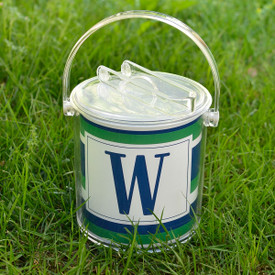 Monogrammed Ice Bucket with Paper Insert 1 1/2 Qt.