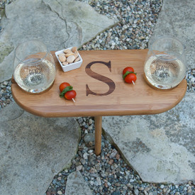 "Monogrammed Mini Picnic Table w/ Stake 15.5""x7.5"""