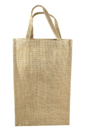 Custom 2 Bottle Jute Tote