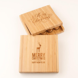 Holiday Bamboo Board & Cheese Knife Set