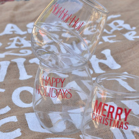 Holiday 16oz Plastic Beverage Glass 4 pack