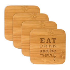 Holiday Bamboo Coasters