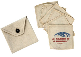 All American Canvas Coaster set of 6