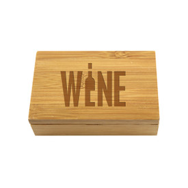All American Bamboo Box-Corkscrew/Stopper