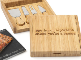 Bamboo Board & Cheese Knife Set