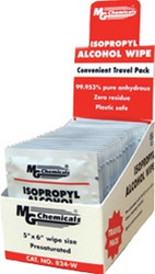 824-WX500, 99.9% Isopropyl Alcohol Wipe, Individual Packs (500 pack)