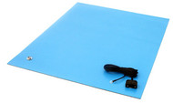 "ESD Rubber Matting MT2448, 24""x48""x0.080"" - Blue"