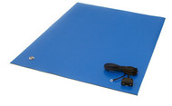 "ESD Rubber Matting MT2460, 24""x60""x0.080"" - Royal Blue"