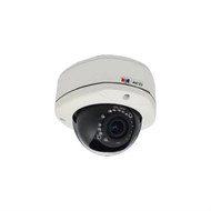 Acti 1MP Outdoor Dome Camera w D N, IR, Basic WDR & Vari-focal Lens