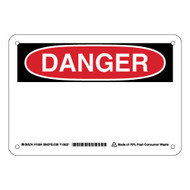 115934 Eco-Friendly Danger Sign