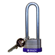 123251 Purple Key Retaining Steel Padlock