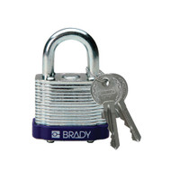 104920 Purple Brady Steel Padlock
