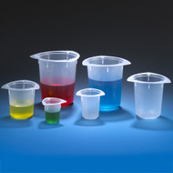 Globe Scientific 3609 Beaker, Disposable, PS, 800mL