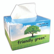 """FRIENDLY GREEN THE SMALL ONE-4.4"""" X 8.3"""", 100% RECYCLED & BIODEGRADABLE WIPES, 280/BOX, 60 BOXES/CASE; 23 LB"""
