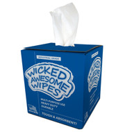"""WICKED WIPES, 9""""X12"""", 200/BOX, 4 BOXES/CASE. 14 LBS."""
