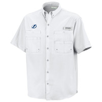 Men's Tampa Bay Lightning Columbia Tamiami White Fishing Shirt